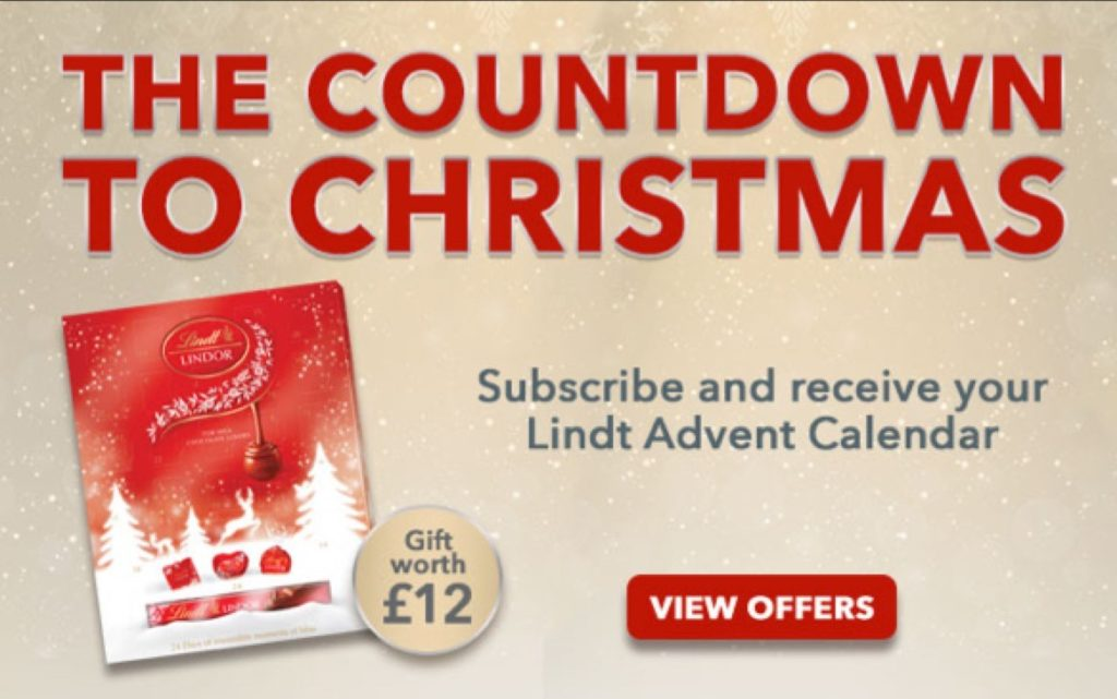 Free Lindt Advent Calendar